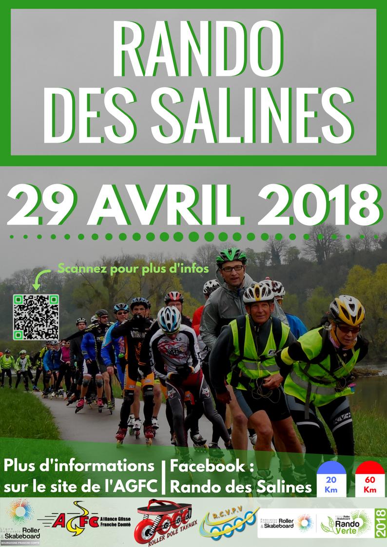 RANDO DES SALINES                                           le Dimanche 29 Avril 2018