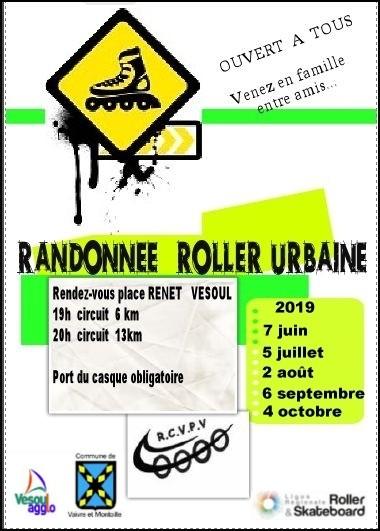 Randonnee roller urbaine 2019
